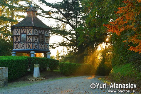 Old France dovecote. Morning time