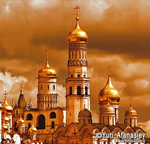 Russia. The church temple in Moscow Kremlin