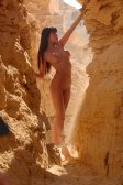 Jordan, brunette, desert, full-length, mountains, outdoor, photo girl, photo model, photo nature, photo nude, rocks, woman
