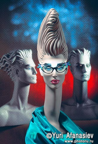 Очки. Рекламная съемка оправы. Фотограф Юрий Афанасьев.